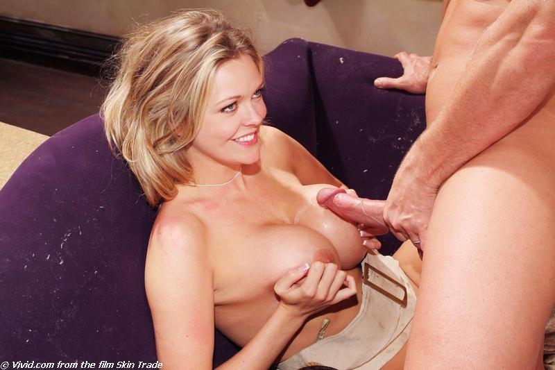 Blonde mature boob