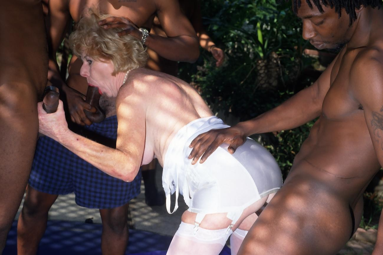 Speak this granny interracial gangbang theme