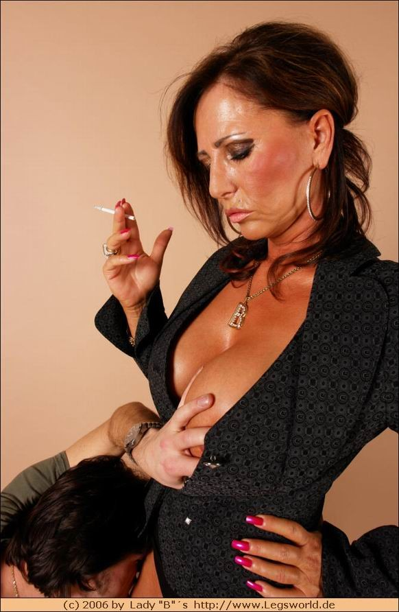 Pity, mistress lady barbara smoking