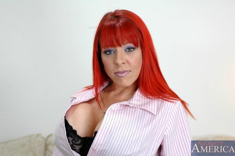 Milf in red lingerie