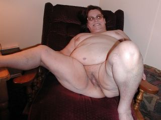 Extra large granny spreads her filthy hairy mature