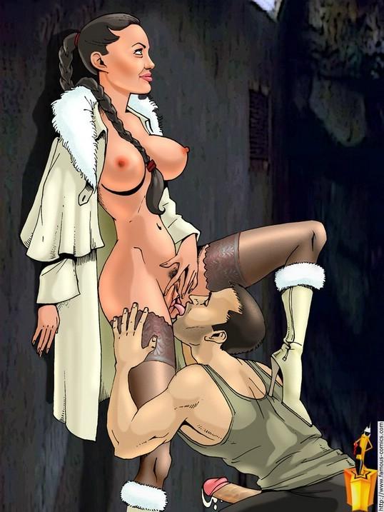 Angelina Cartoon Porn - Fabulous porn cartoons with Angelina Jolie - Pichunter