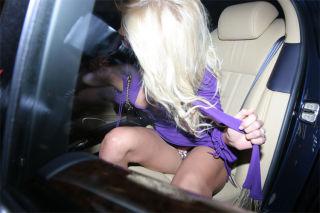 Victoria Silvstedt flashing pussy upskirt paparazz