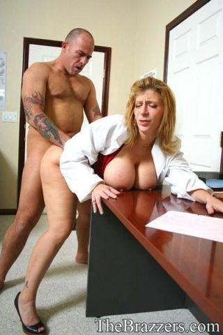 Huge boobed doctor Sara Jay takes advantage of you