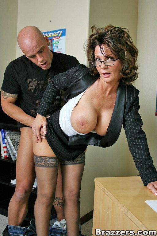Busty brunette teacher Deauxma gets her pussy fuck