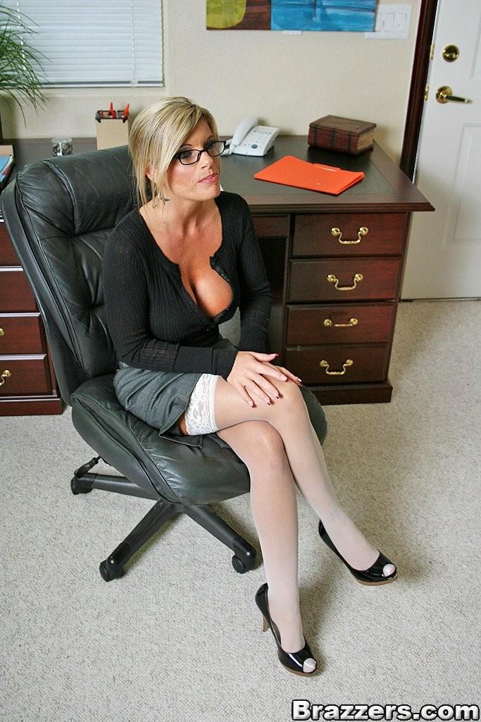 Busty Blonde Milf Interracial