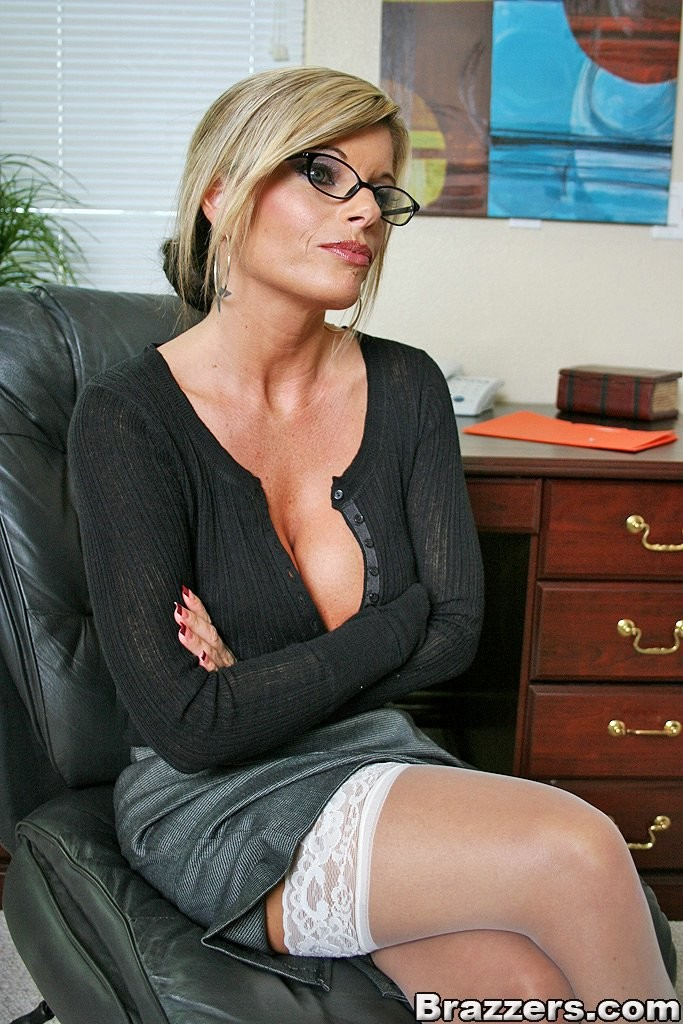 Speaking, milf glasses white stocking busty accept
