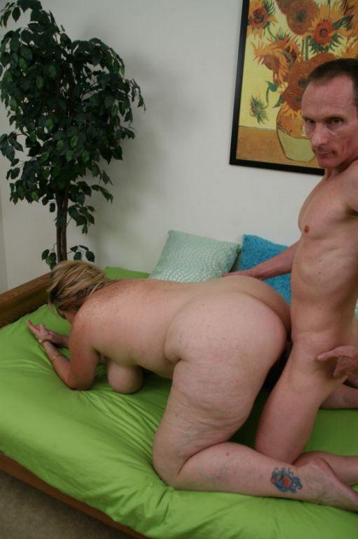 Fat horny busty bbw blonde plump blowjob & fuc
