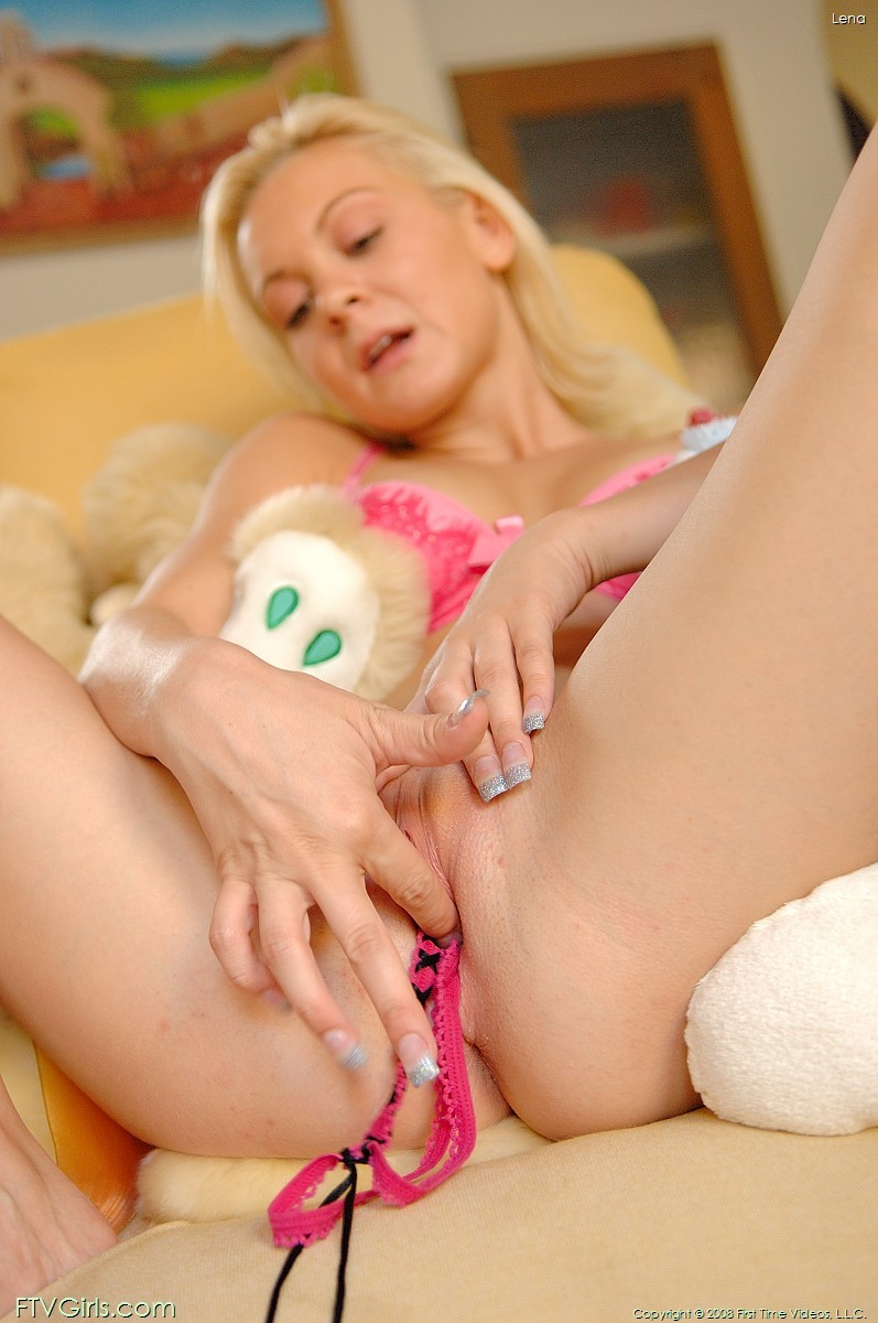 Close Up Panty Stuffing - Petite blonde teen panty stuffing her tight pussy - Pichunter