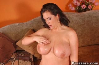 Stunning busty mommy Angelica Sin riding the cock