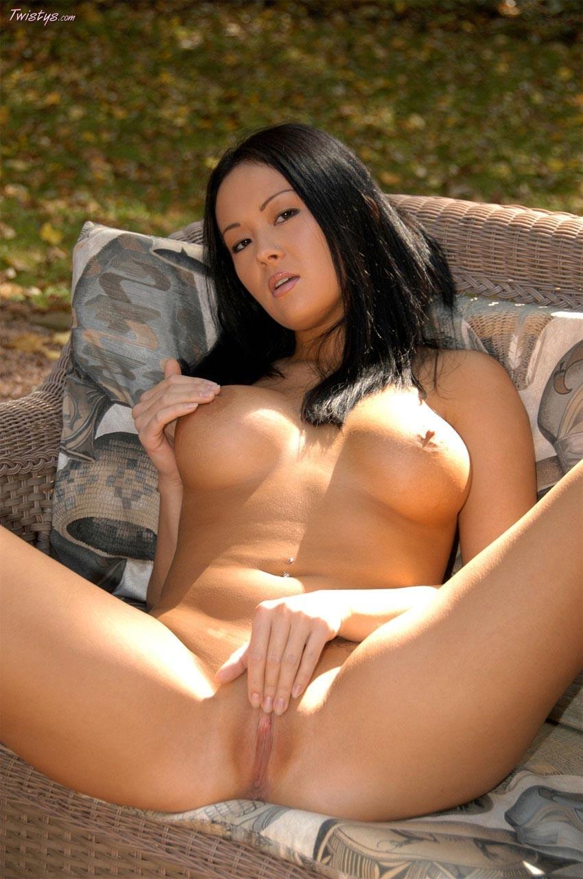 Teen licking her big nipples