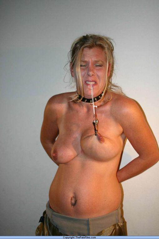 Kinky mature amateur bdsm slavegirl in tit torment