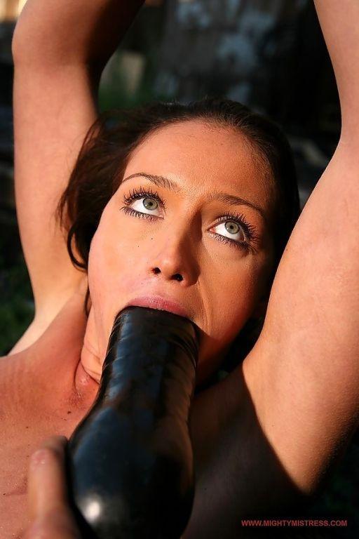 mistress Mandy Bright enslaving and torturing a ba