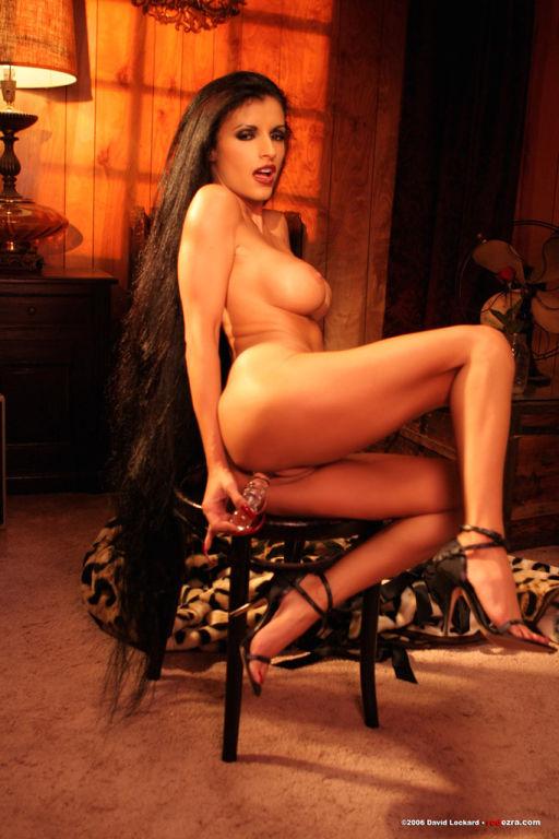 exotic long hair latina babe dildos tight pussy