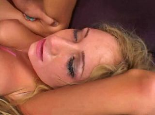 Gagging blonde gets her ass busted