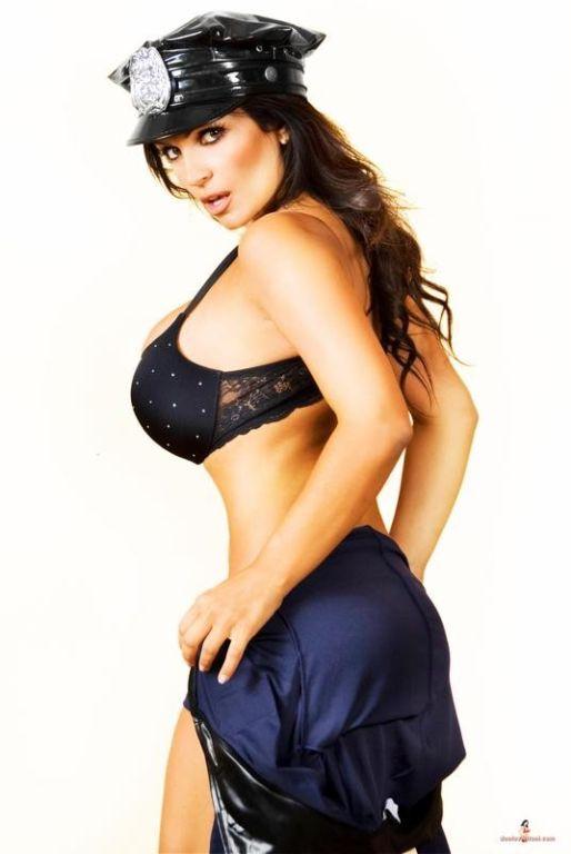Denise Milani sexy cop ready to arrest u