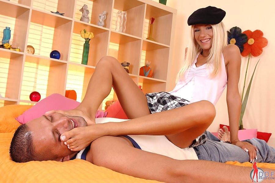 Hot Blonde Teen Lesbian