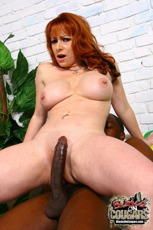 Horny big tit redhead cougar fucks black monster c