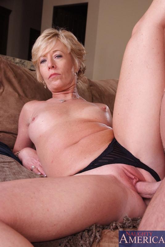 Milf wearing black thong