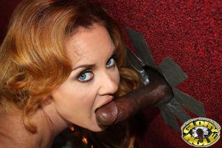 busty redhead Janet Mason meets a black dong at a