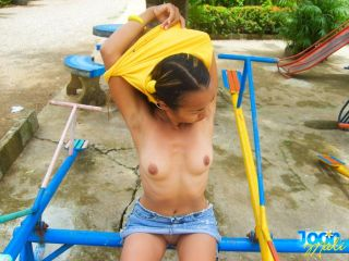 Thai asian teen girl outdoors