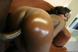 tasty black booty oiled up and rammed by a black c
