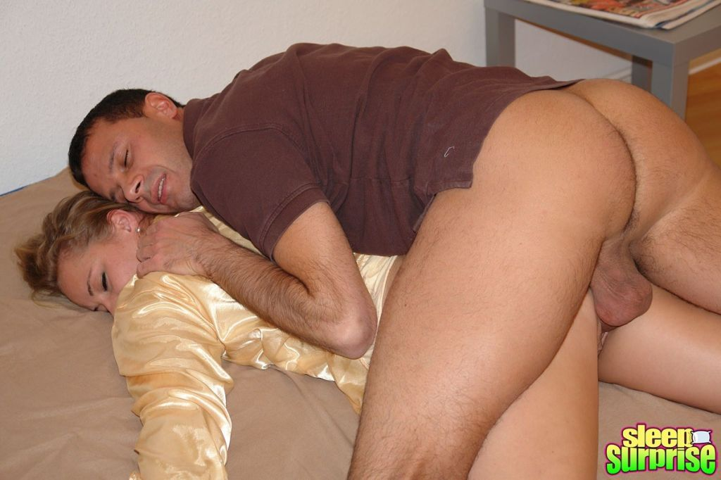 Sleeping girl gets a surprise inside her moist pus