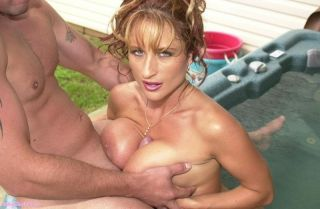 Busty Brittany Love Fucked In The Hot Tub