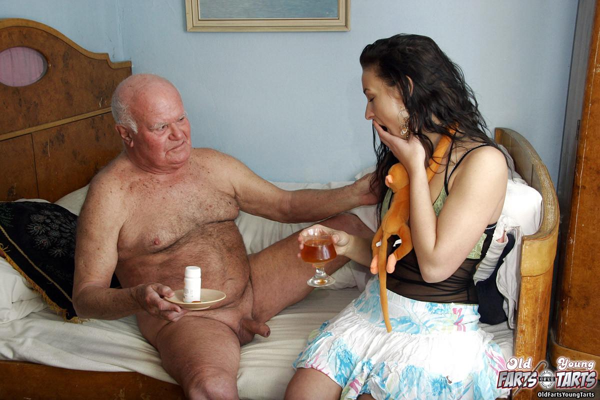 Something Grandpa getting a blow job think