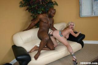 Blonde pornstar slut fucking and sucking black har