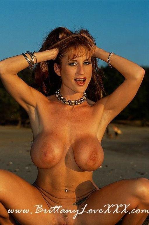Busty Brittany Love Strips Bikini