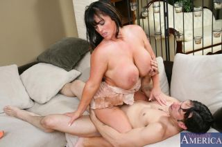 Busty hot mom Indianna Jaymes pounded hard by her