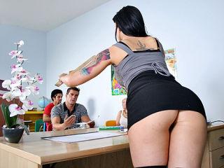 Victoria Sin fucks her students big cock in class