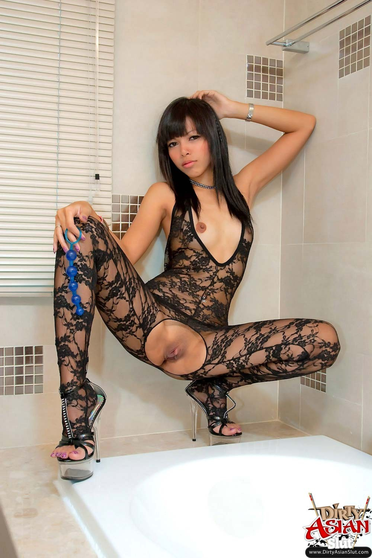Sexy girl covering boobs