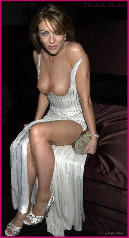Women nude teasing in public