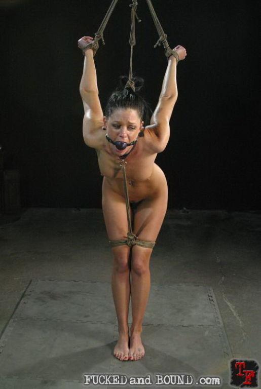 Helpless sexy girl bondaged hard and having rough