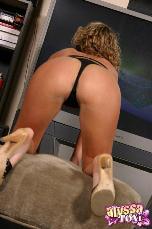 Alyssa Roxi In A Black Bikini