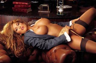 Busty beauty in fine lingerie