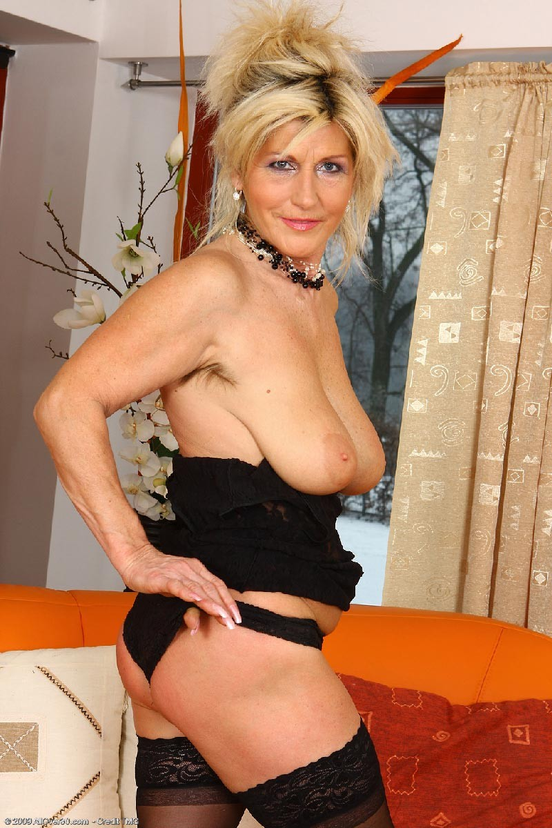 Mature lingerie teasing
