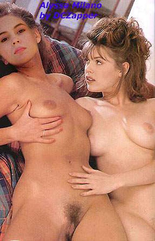 Alyssa Milanos nackte Lesben enge Muschi Berühmter