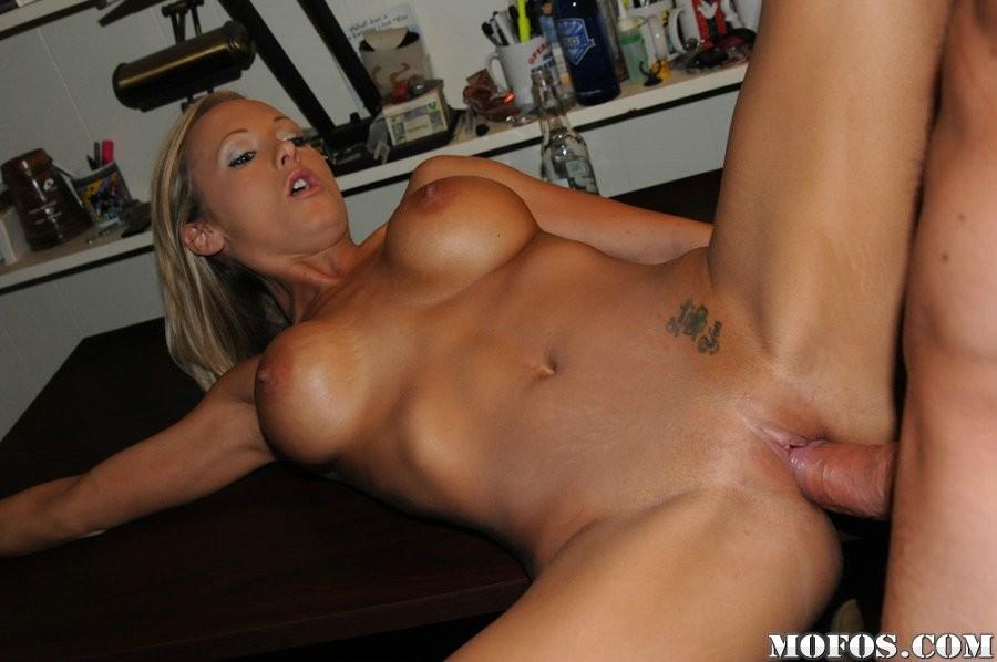 Stylish stud is giving babe a sensual massage