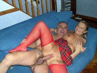 British street slut gobbling on a senior his love