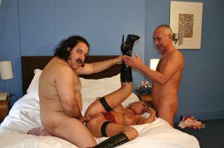 Ron Jeremy banging a dirty British slutty blonde w