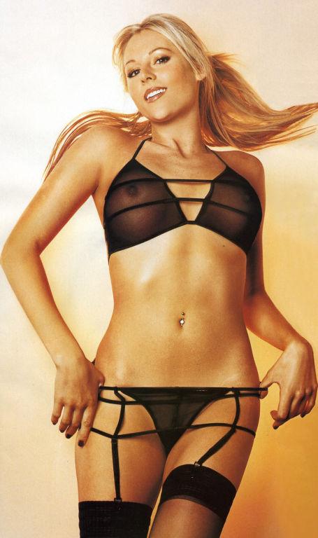 Sexy celebrities posing in erotic lingerie