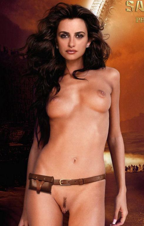 Penelope Cruz showing big natural tits and enjoyin