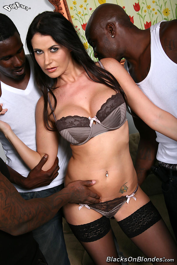 busty brunette Eva Karera gets gangbanged by four hung ...