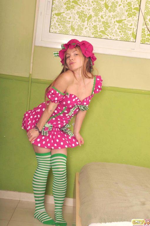 Cute teen girl Emily cosplay