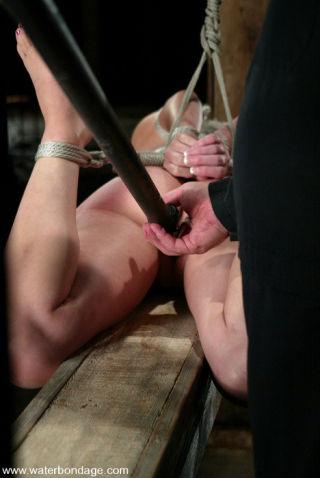 Business slut captured and water tortured