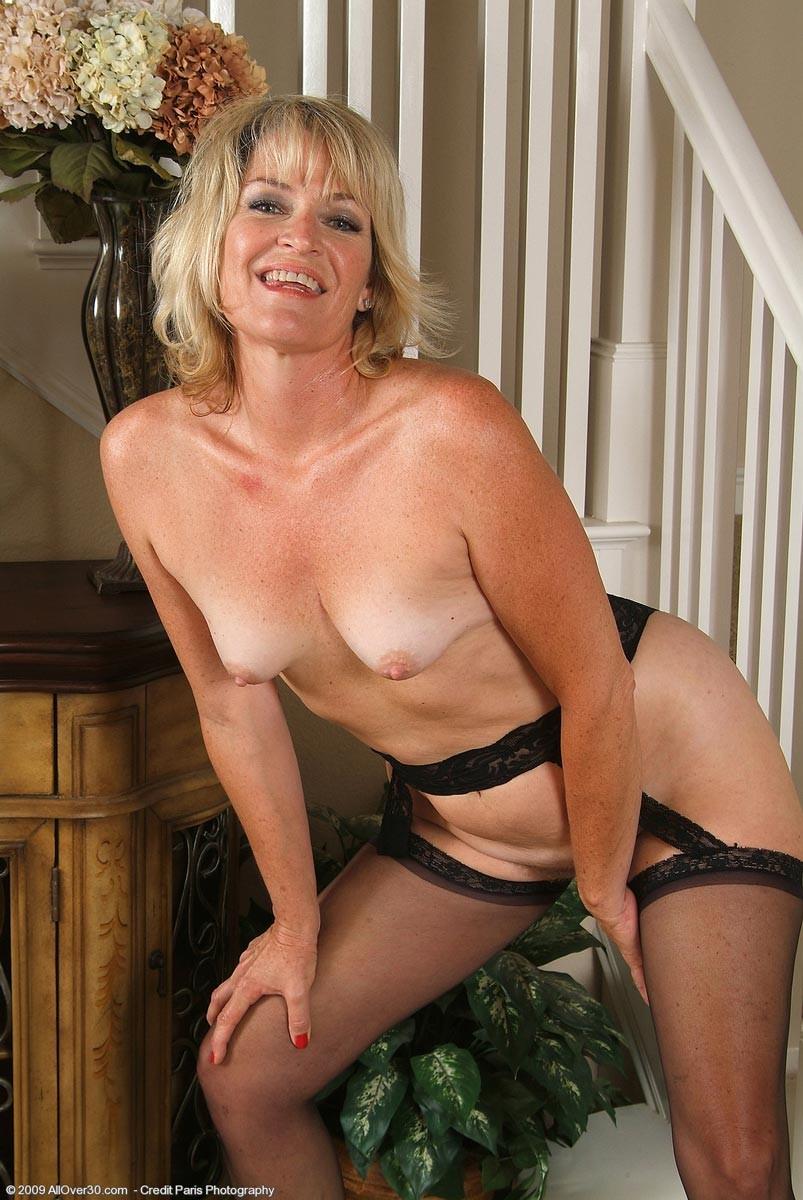 Horny mature blonde