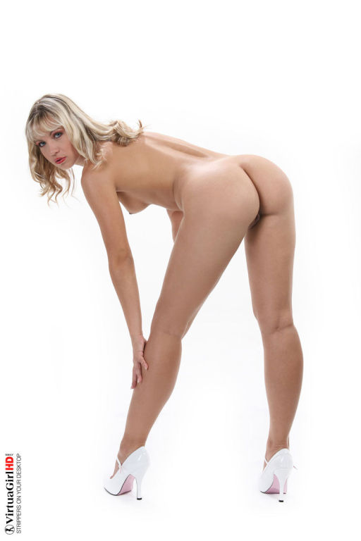 Naughty Jenni Gregg stripping off her sexy uniform